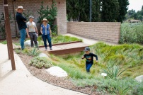 While parents, visited for information, kids illustrated effective use of the trails and bioswales.
